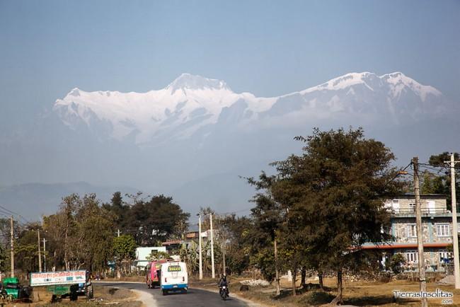 llegando a pokhara desde katmandu