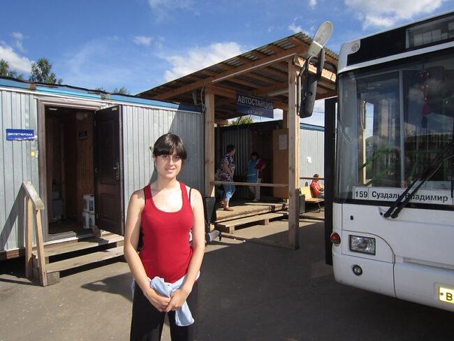 ''Estacion de autobuses'' en Suzdal.