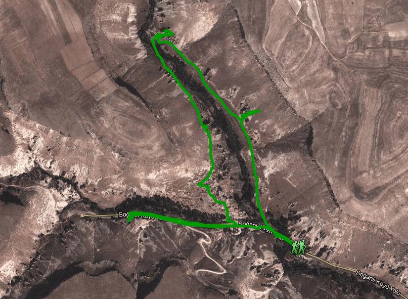 Ruta por Soğanli (click para aumentar)