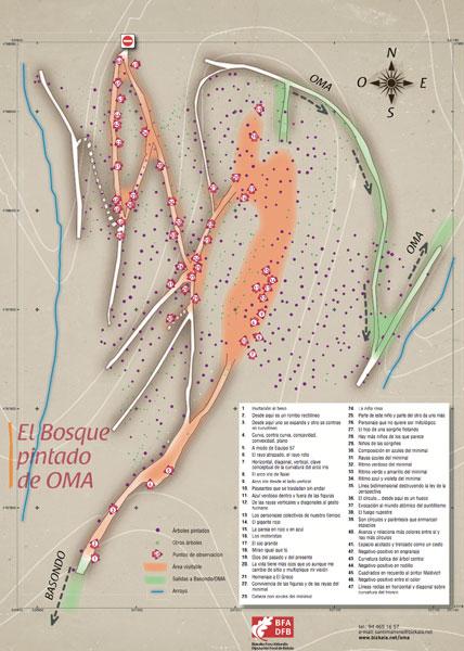 mapa bosque de oma