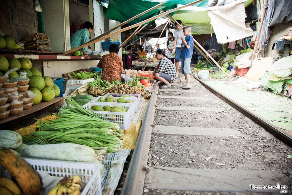 Visitar el Mercado de MAE KLONG (Mercado de las Vías)