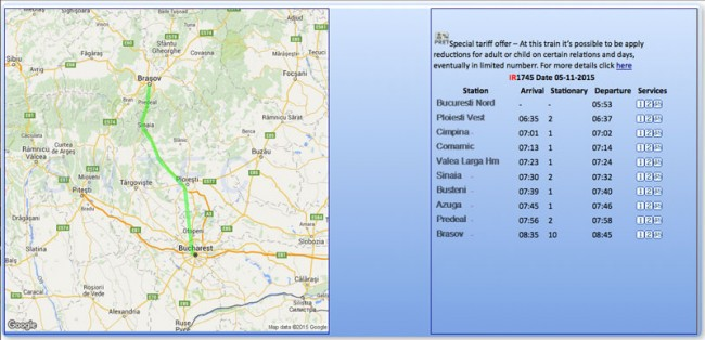 rutas en tren por rumanía