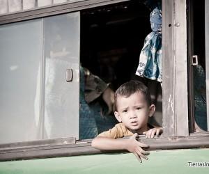 moverse en transporte local por laos