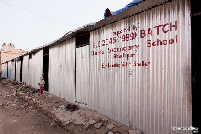 la escuela una vez pasado el terremoto
