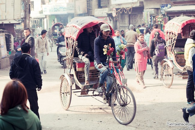 rickshaw nepal