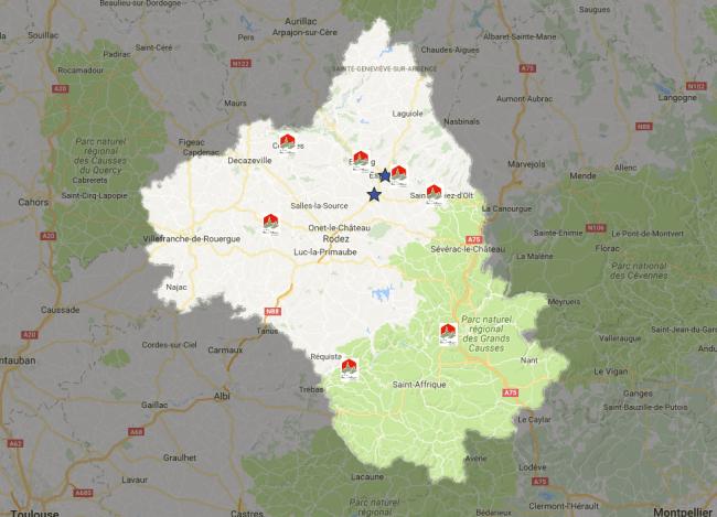 mapa los pueblos mas bonitos de francia aveyron
