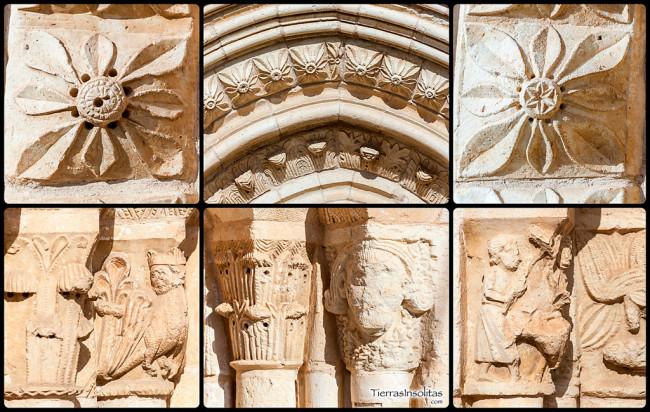 detalle arquivoltas y capiteles uzquiano