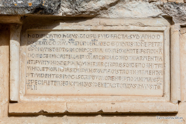 inscripción ermita de san juan