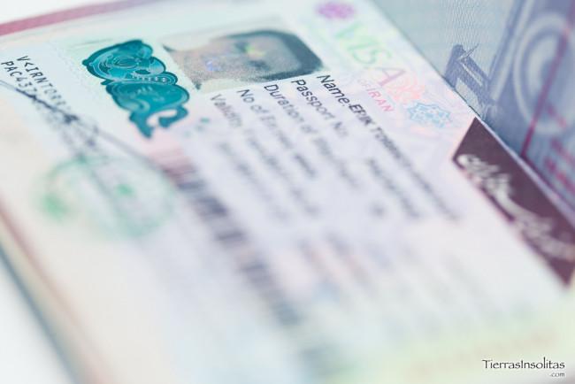 visado para irán en el aeropuerto