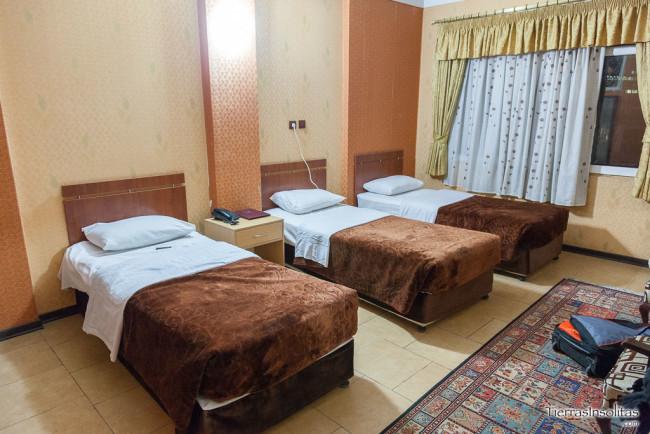dónde dormir en teherán