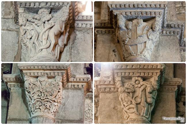 capiteles interior templo