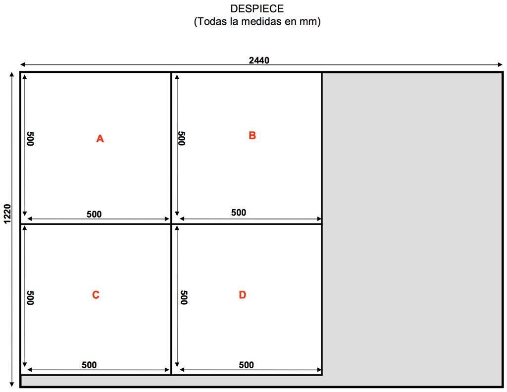 ejemplo 1 despiece corte de sierra