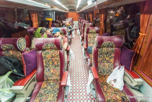 interior autobús vip en irán