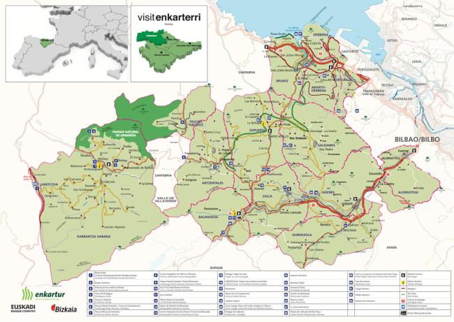mapa del valle de carranza y las encartaciones