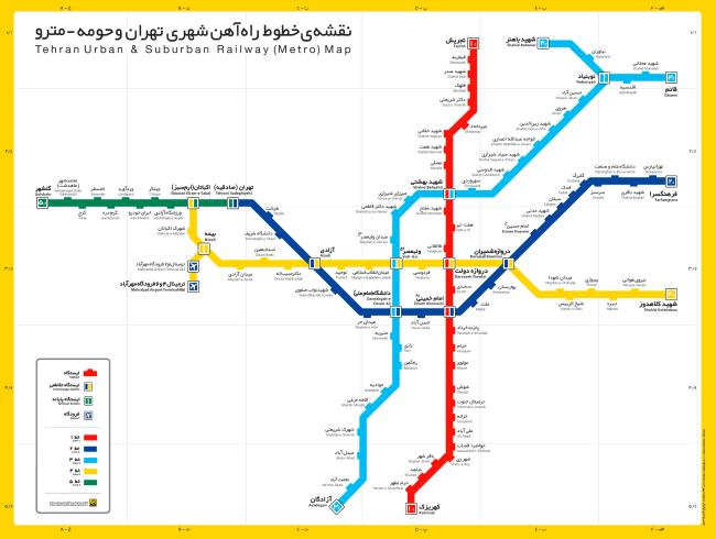 mapa metro teherán