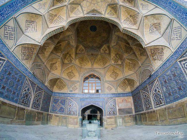 detalle bóveda mezquita masjed-e jameh