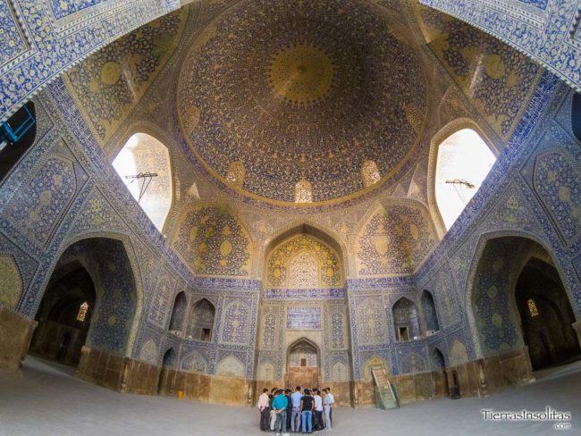 interior mezquita masjed-e imam