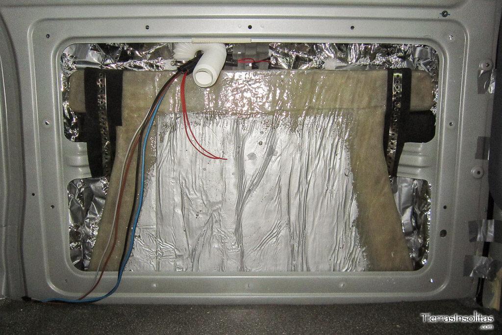 instalación depósito aguas grises interior furgoneta camper