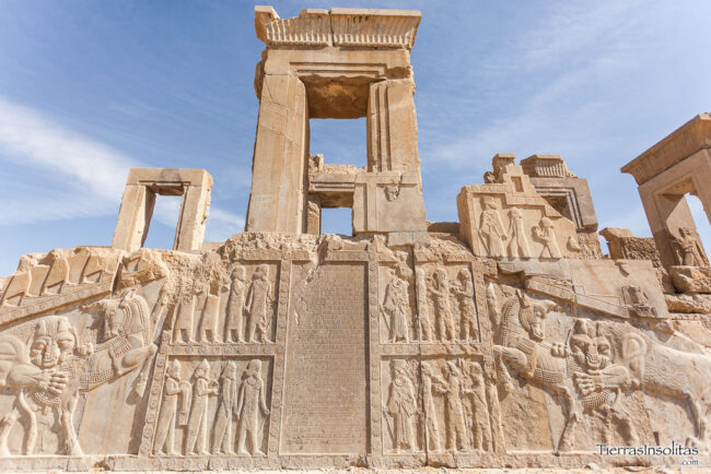 detalle relieves persépolis irán