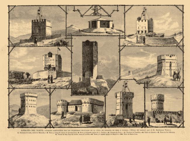 fuertes y telégrafos construídos en la II guerra carlista álava