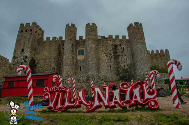 obidos en navidad portugal