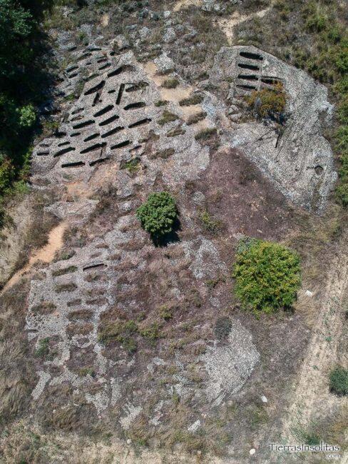vista aérea necrópolis de santa eulalia