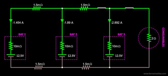 conexión baterías en paralelo ejemplo4