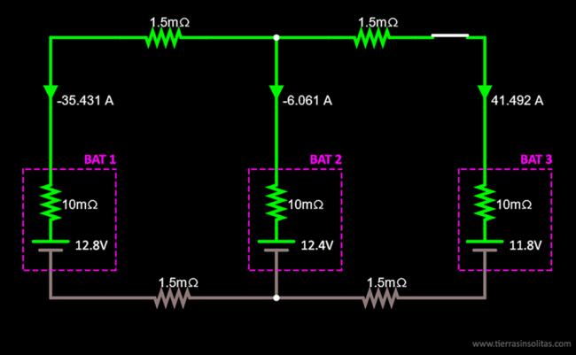 conexión baterías en paralelo ejemplo6