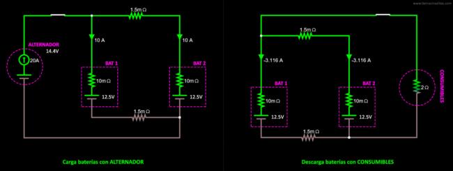 conexión baterías en paralelo solución13