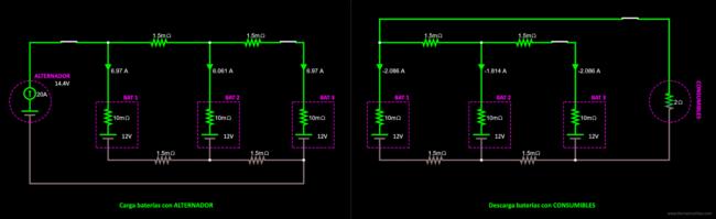 conexión baterías en paralelo solución9