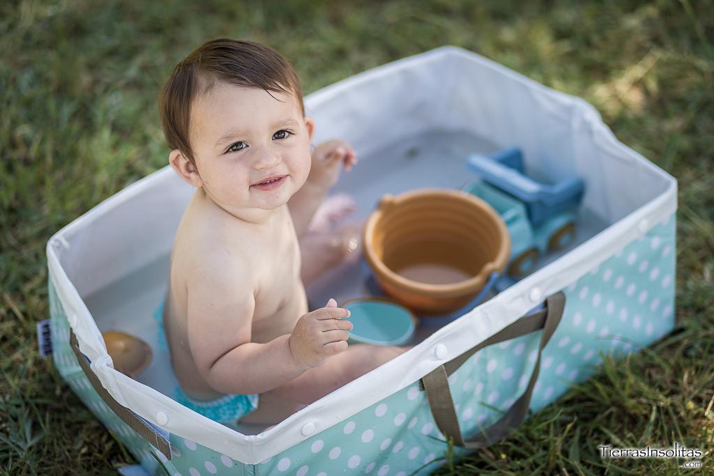 bañera piscina bebé furgoneta camper