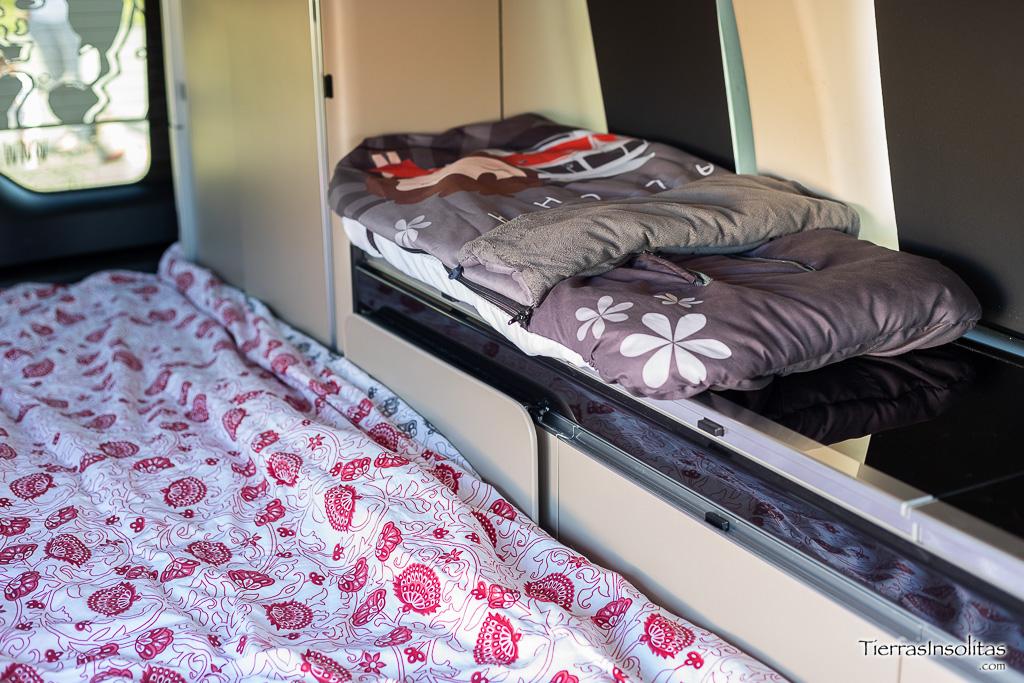 cama bebé encimera furgoneta camper