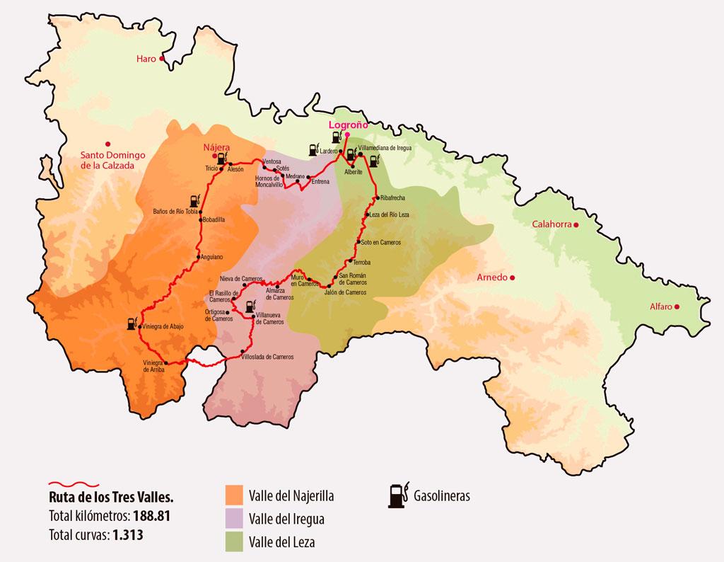 ruta motera los tres valles la rioja