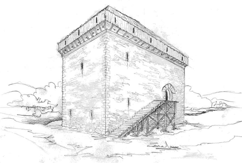 ilustración torre banderiza