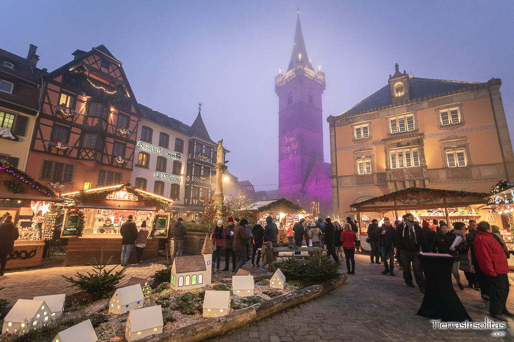 mercado navideño en obernai alsacia