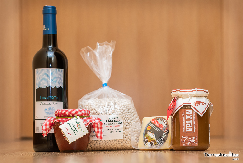 productos gastronómicos uagalur turismo activo álava