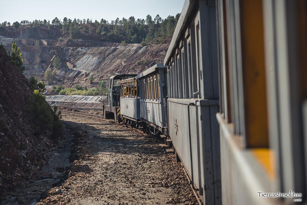 ferrocarril minero diesel parque minero de riotinto